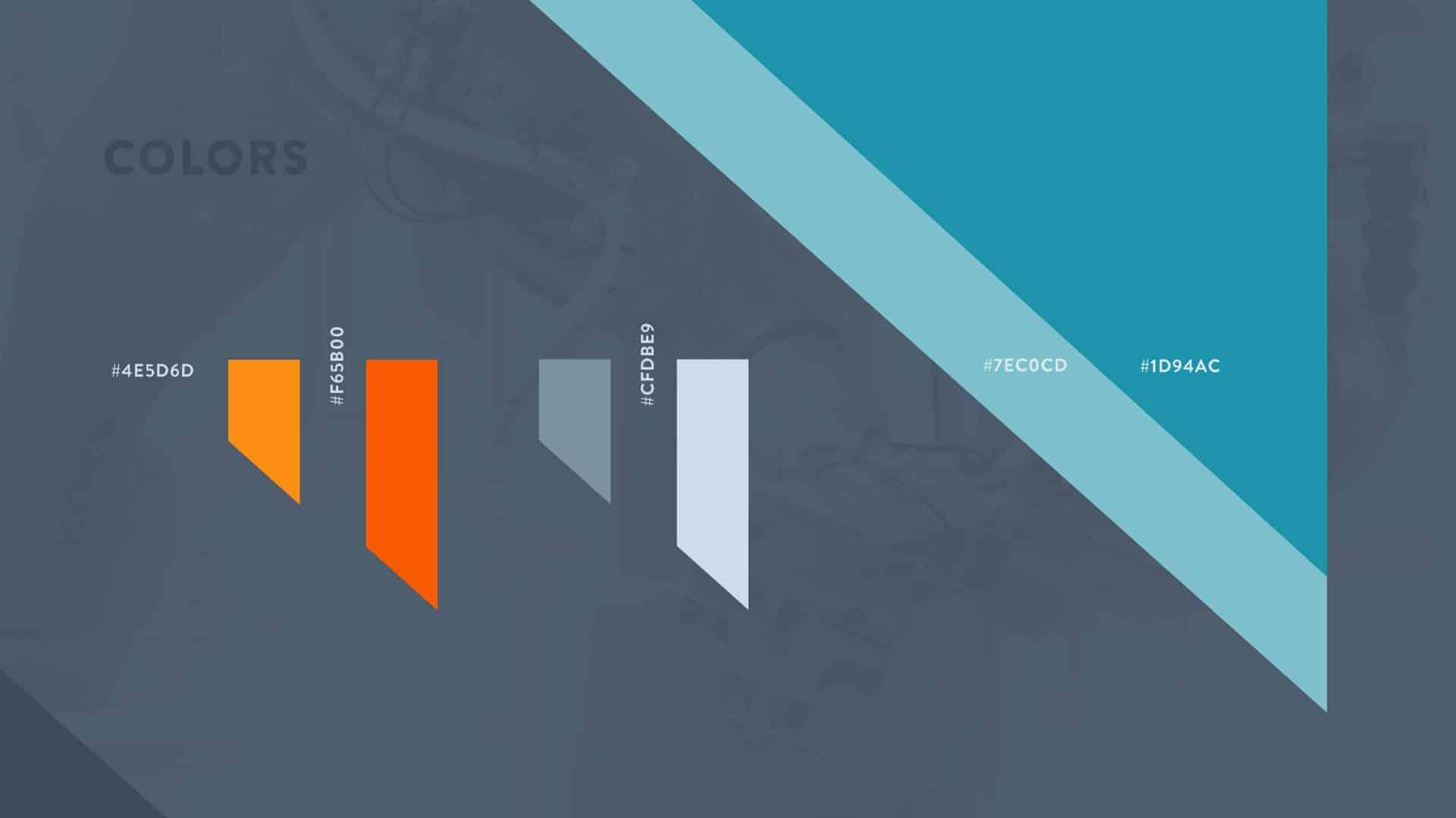 Корпоративный дизайн компании становится узнаваемым благодаря особой цветовой гамме