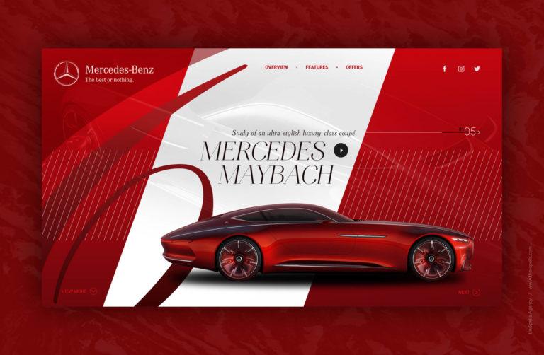 Стильный дизайн страницы автомобильной тематики