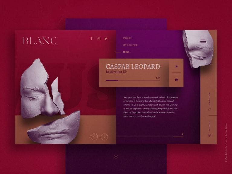 Стильный дизайн сайта и лендинг пейдж от агентства theSpells