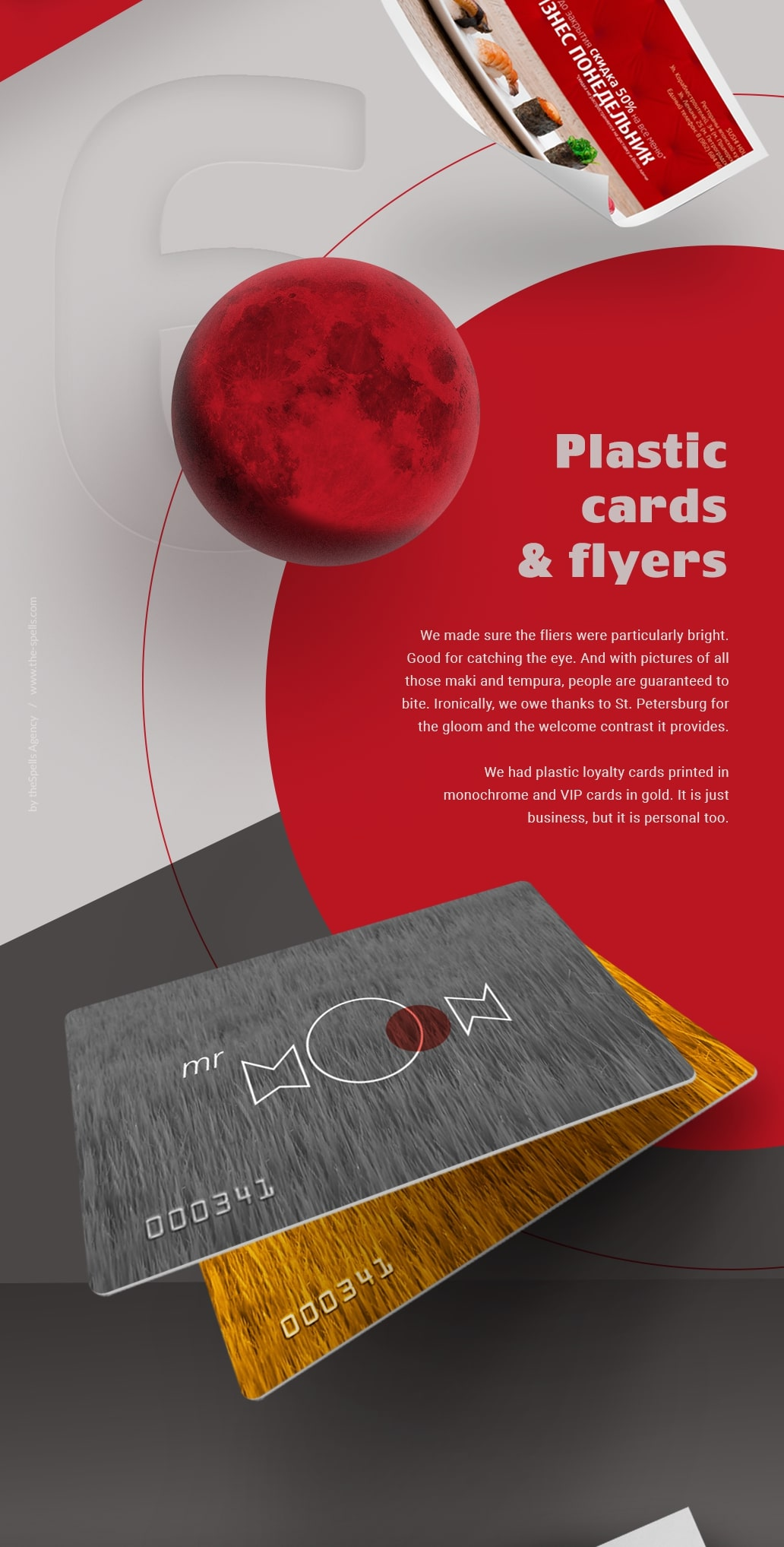 Plastic cards and Flyers for restaurant by theSpells Agency